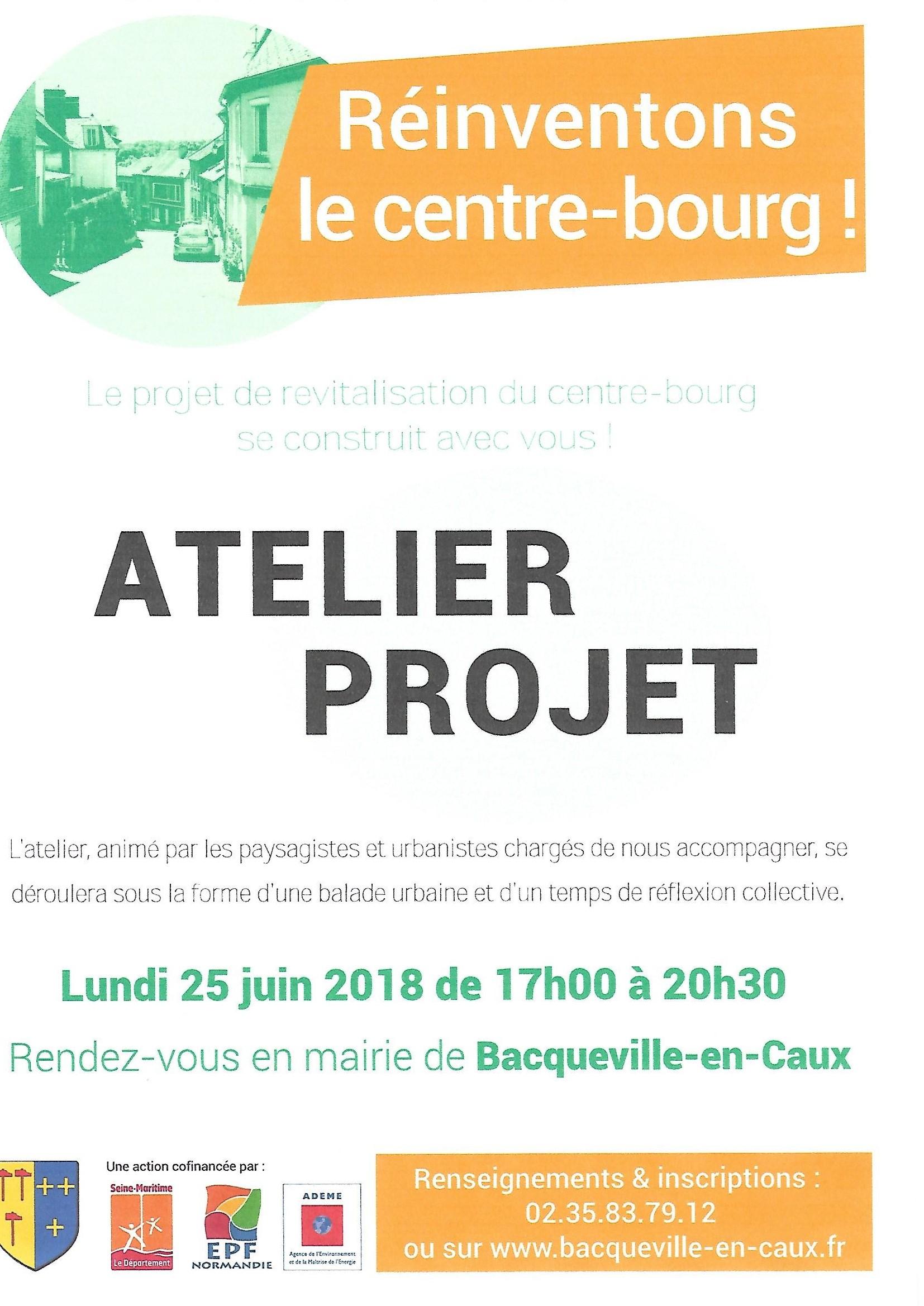 ATELIER PROJET CONCERNANT L'AMENAGEMENT DU CENTRE BOURG @ Mairie