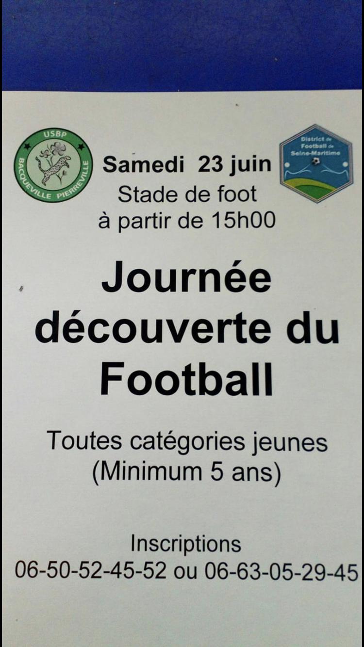 JOURNEE DECOUVERTE DU FOOTBALL @ Stade de foot