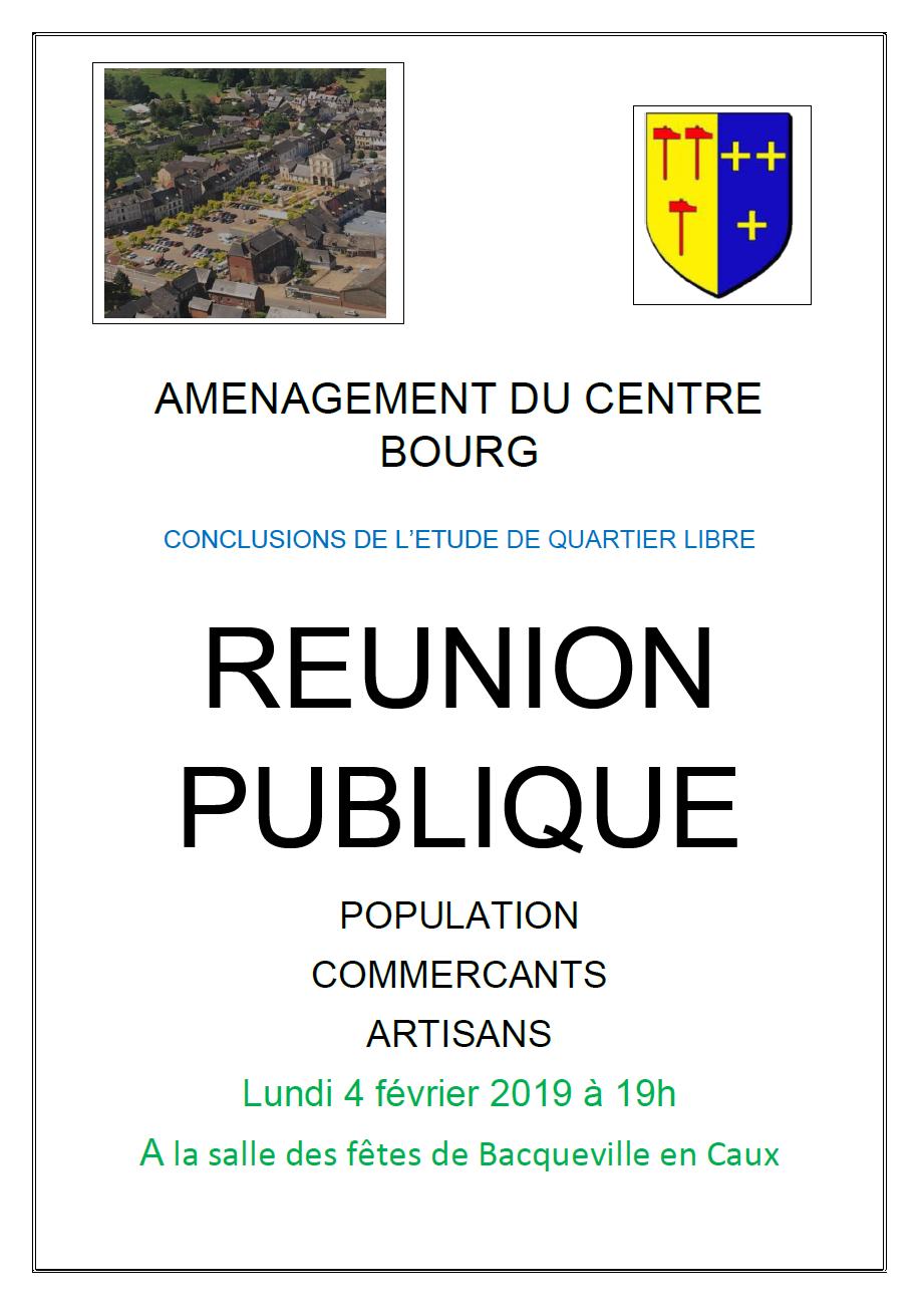 REUNION SUR CENTRE BOURG @ Salle des fêtes de Bacqueville
