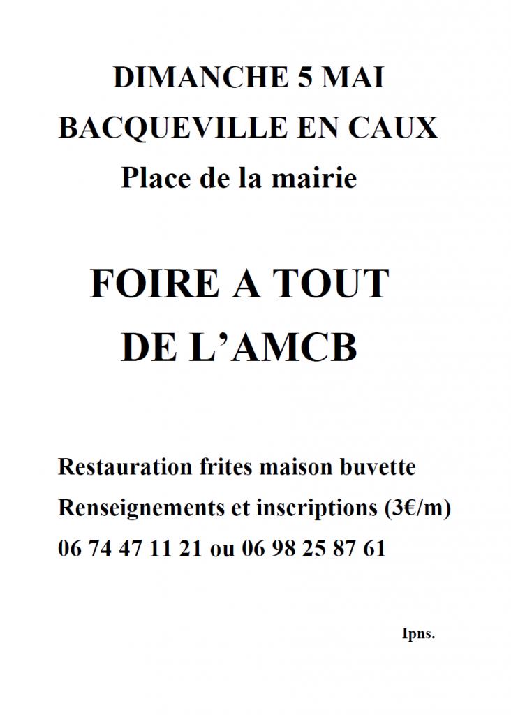 FOIRE A TOUT DE L'AMCB