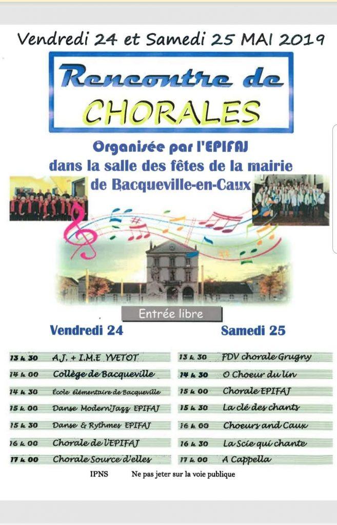 FESTIVAL DES CHORALES @ Salle des fêtes de Bacqueville