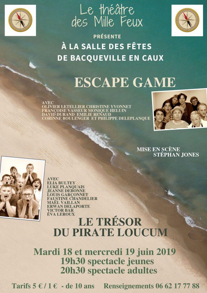 Théâtre des milles feux - 2 Représentations @ Salle des fêtes de Bacqueville