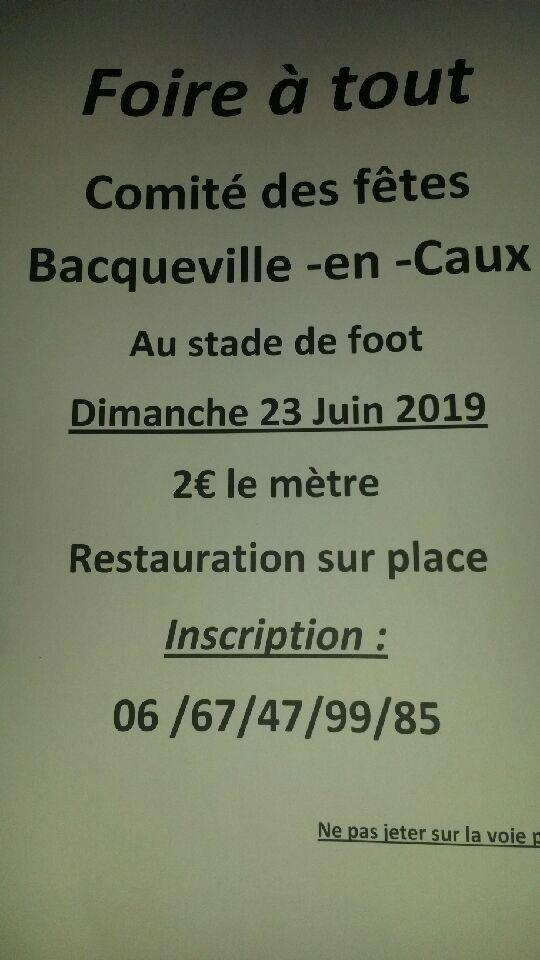 FOIRE A TOUT DU COMITE DES FETES @ Stade de foot