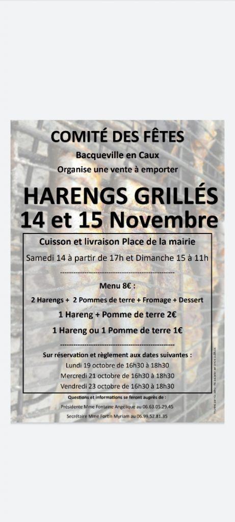 WEEK-END HARENG GRILLE DU COMITE DES FETES